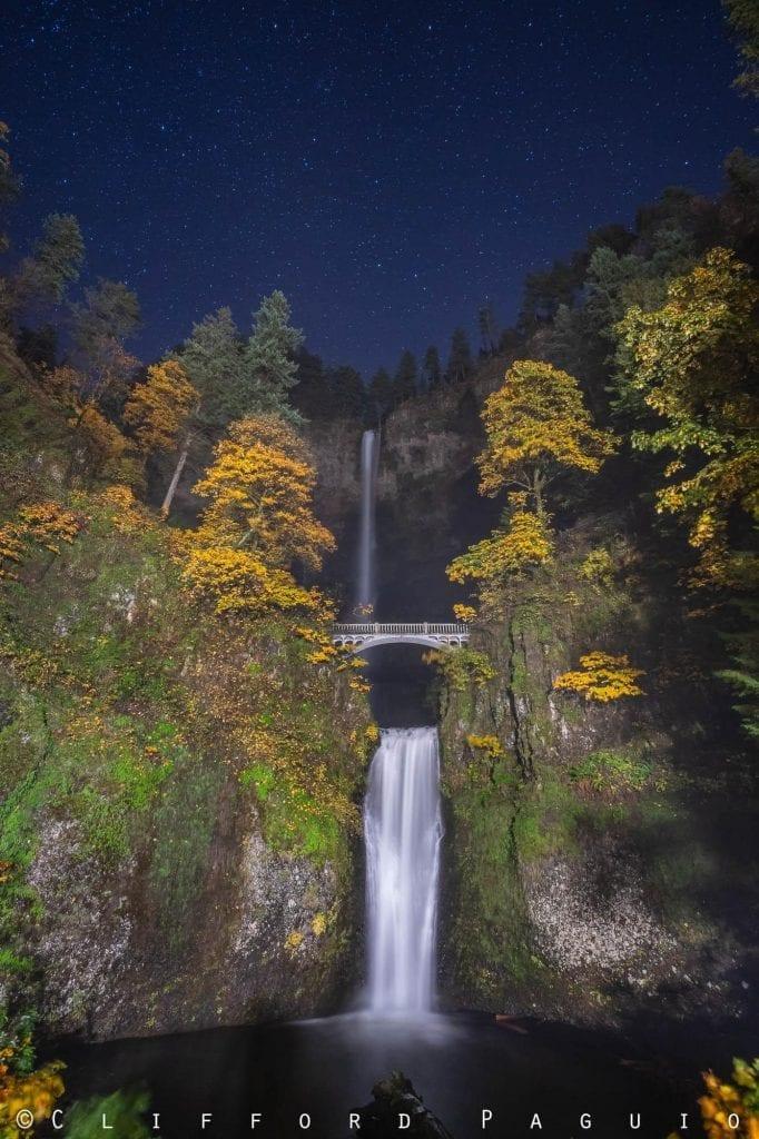 Waterfalls Autumn Multnomah Falls